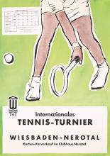 Original Vintage 1960 German Tennis Tournament Poster