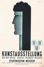 Original Vintage  German Poster Plakat 1950 Kunstausstellung