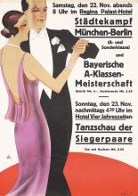 Original Vintage German 1930s Dance Poster Plakat