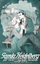 Original Vintage 1920s Swedish Film Poster Plakat Heidelberg