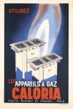 Original Vintage 1935 French Gas Oven Poster ROGER PEROT Art
