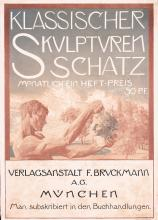 Rare Original Vintage 1890s German Sculpture Art Poster Plakat