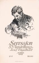 Original Vintage 1919 German Secessionist Art Poster ENGELHART