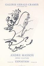 Original Vintage 1960s Modern Art Poster ANDRE MASSON
