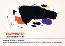Original Vintage 1960s Willi Baumeister Modern Art Poster