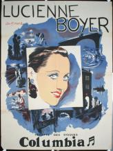Original Vintage 1930s LUCIENNE BOYER French Music Star Poster