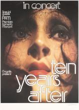 Original Vintage SIGNED 1970s KIESER Poster TEN YEARS AFTER