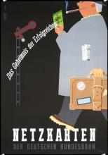 Original Vintage 1950s German Railway Travel Poster