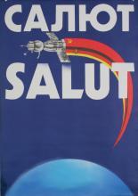 Original Vintage 1970s Russian East German Propaganda Poster