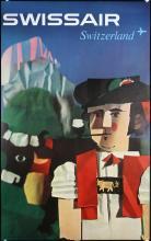 Original Vintage 1960s Swissair Travel Posters SCHWABE Art