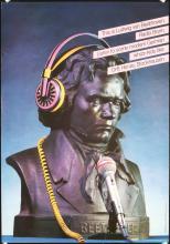 Funny Original Vintage 1980s German Culture Poster Beethoven