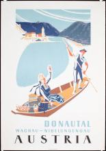 Original Vintage 1950s/60s Austria Danube Valley Travel Poster