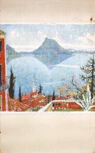 3 Original Vintage Travel Posters Carigiet Swiss Ticino + 2