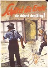 Original Vintage 1940s German WW II Poster Harvest Fire Protect