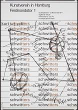 Original Vintage 1970s German Modern Design Poster SCHWITTERS