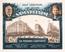 Old Original Vintage 1920s French Poster Samaritaine Paris
