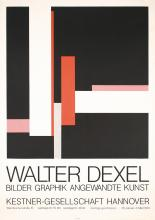 Original Vintage 1970s Walter Dexel Graphics Art Poster Plakat