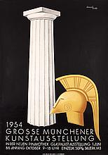 RARE Original 1930s German Art Exhibition Poster MAX ESCHLE Art