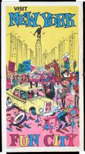 FUNNY Original 1970s NEW YORK Travel Poster KING KONG on Empire State