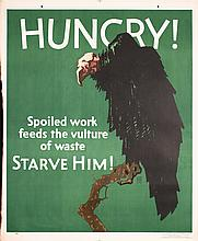 Original Vintage 1929 Mather Work Incentive Poster HUNGRY