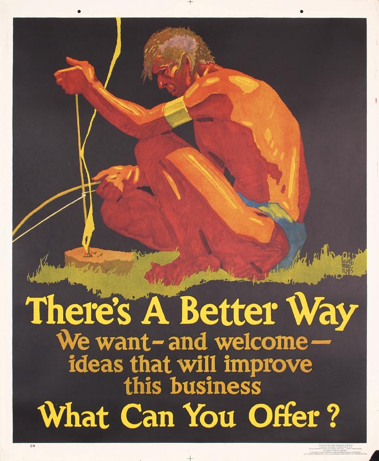 Original Vintage 1920 Mather Work Poster Chicago A Better Way