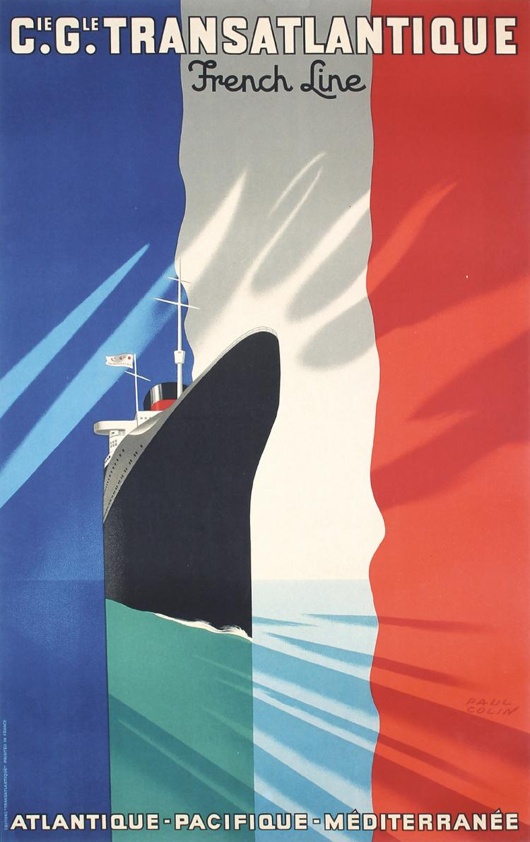 Vintage Original 1930s PAUL COLIN French Line Travel Poster