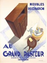 Original 1930s French Furniture Poster AU GRAND PASTEUR