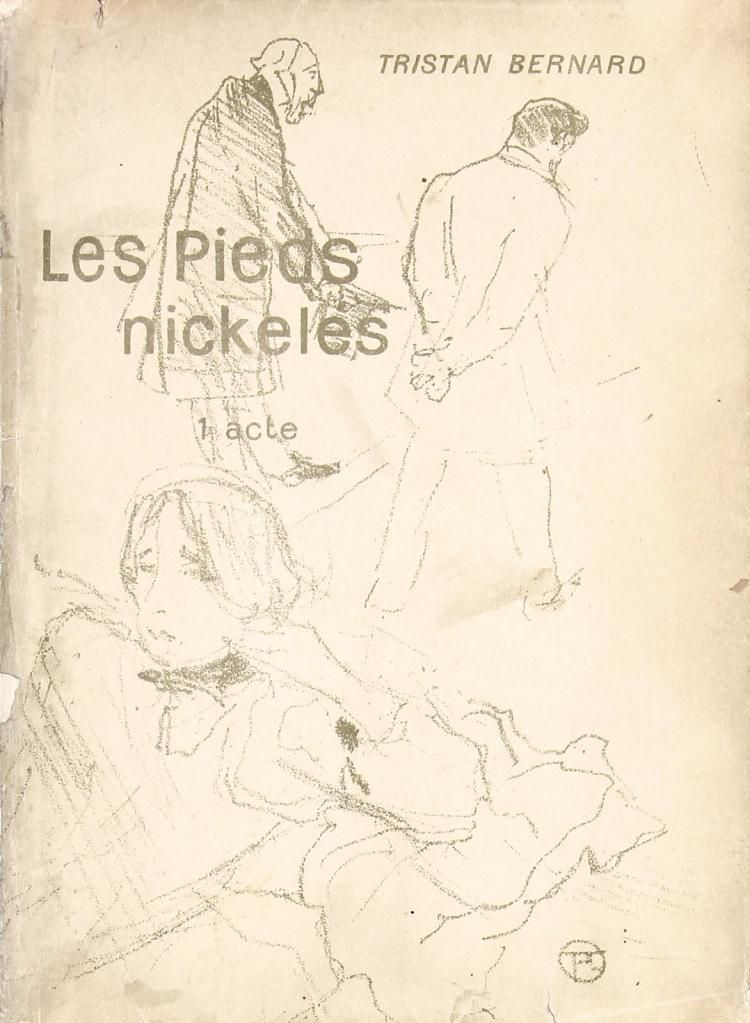 *** VERY RARE 1895 TOULOUSE-LAUTREC Book Cover PIED NICKELES + Book