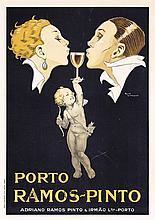 ORIGINAL Vintage 1920s Porto Ramos Pinto Poster RENE VINCENT