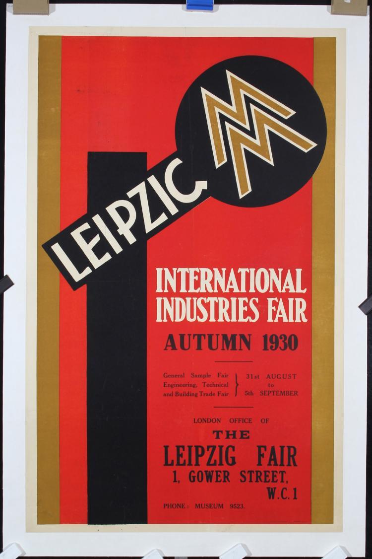 Original Vintage 1930 Leipzig Fair Design Poster