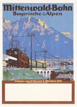Original Vintage 1930s German Rail Alps Travel Poster