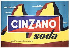 Original 1950s Italian Cinzano Drink Advert Poster