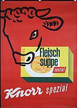 Original 1950s Swiss Design Knorr Food Poster THONI Art