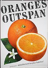 Original 1960 Swiss Oranges Food Poster Plakat