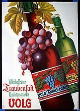 4 Original Swiss 1940s/1970s Advertising Posters Volg