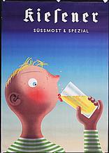 Original 1940s Swiss Fruit Juice Poster EIDENBENZ Art