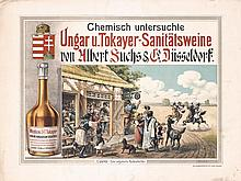 Original 1900s Hungarian Wine Poster Plakat