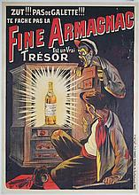 GREAT Original 1910 French Liquor Armagnac Poster OGE