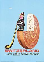 Original 1950s HERBERT LEUPIN Swiss Cheese Poster