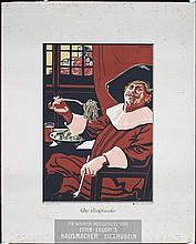 Original 1910s Swiss Pasta Gourmet Food Poster