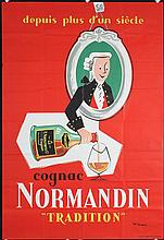 Original 1950s/60s French Cognac Liquor Poster