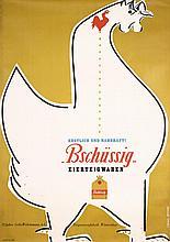 RARE 1950 Muller-Brockmann Pasta Advert Poster Rooser