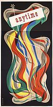 RARE Original 1940s/50s American Graphic Design Poster