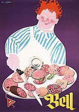 Original 1952 Donald Brun Swiss Advertising Poster BELL