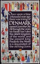 Original Vintage 1950s Denmark Travel Poster KINGS