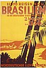 Original Vintage 1930s Lloyd Travel Poster BRAZIL, Fritz Kück, Click for value
