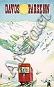 Old 1940s Swiss Ski Travel Poster Plakat DAVOS Monnerat, Pierre Monnerat, Click for value