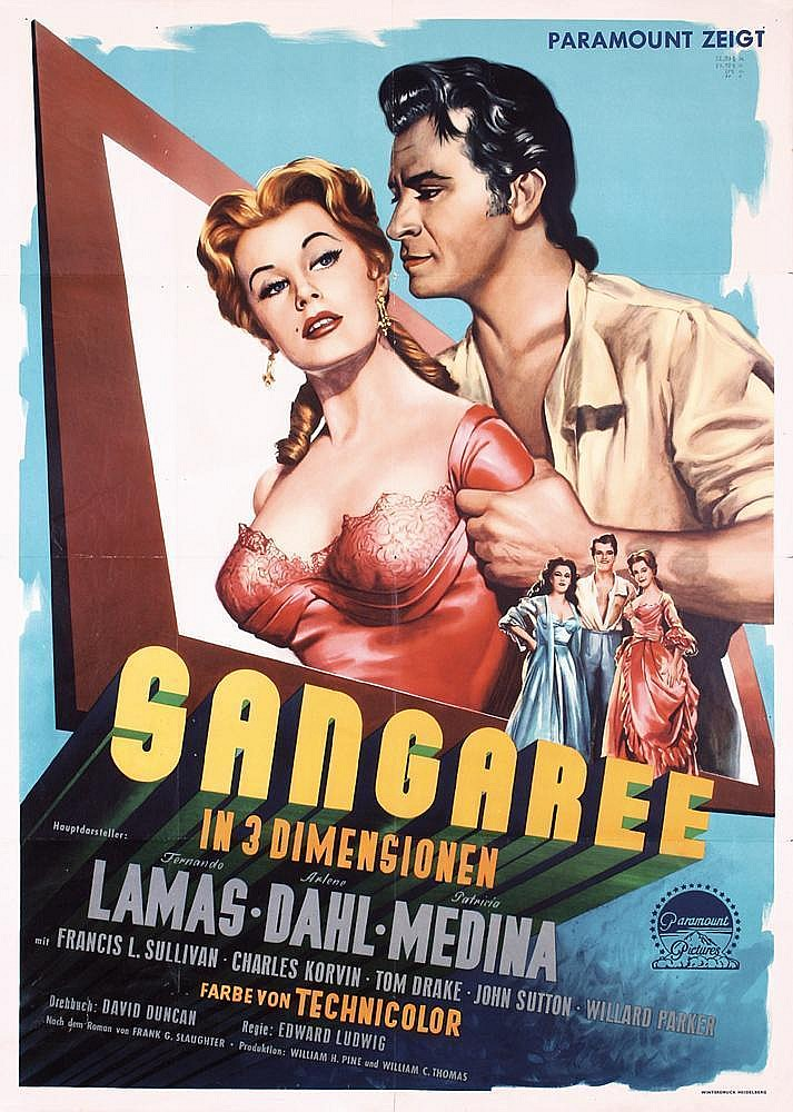 Set of 2 Original 1950s 3-D Posters Sangaree