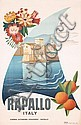 Original 1930s Italian Rapallo Rravel Poster RICCOBALDI, Giuseppe Riccobaldi, Click for value