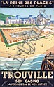 RARE Old 1920s French Trouville Beach Poster Plakat, Pierre Commarmond, Click for value